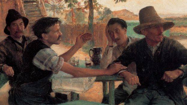 "Emile Friant ""La Discussion politique"", dettaglio, 1889"